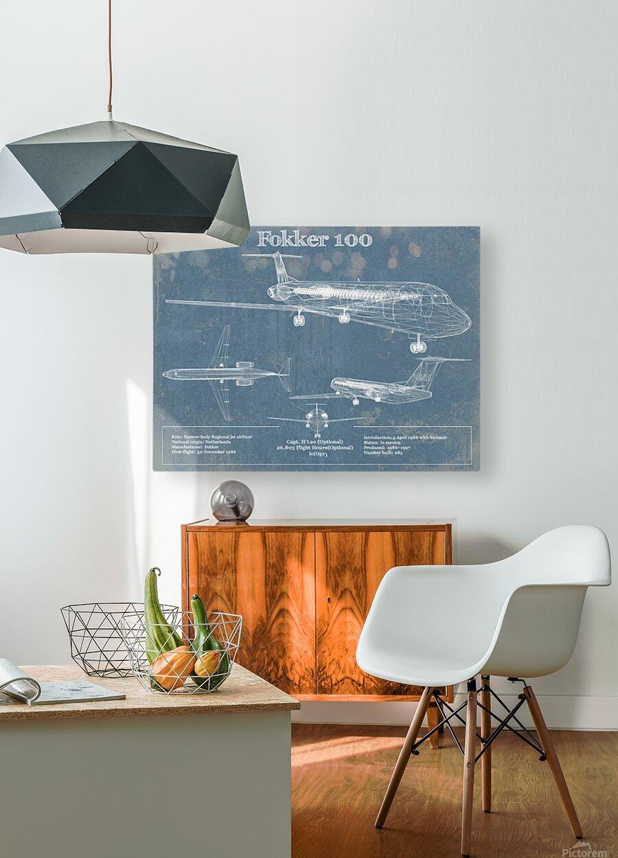 fokker  HD Metal print with Floating Frame on Back