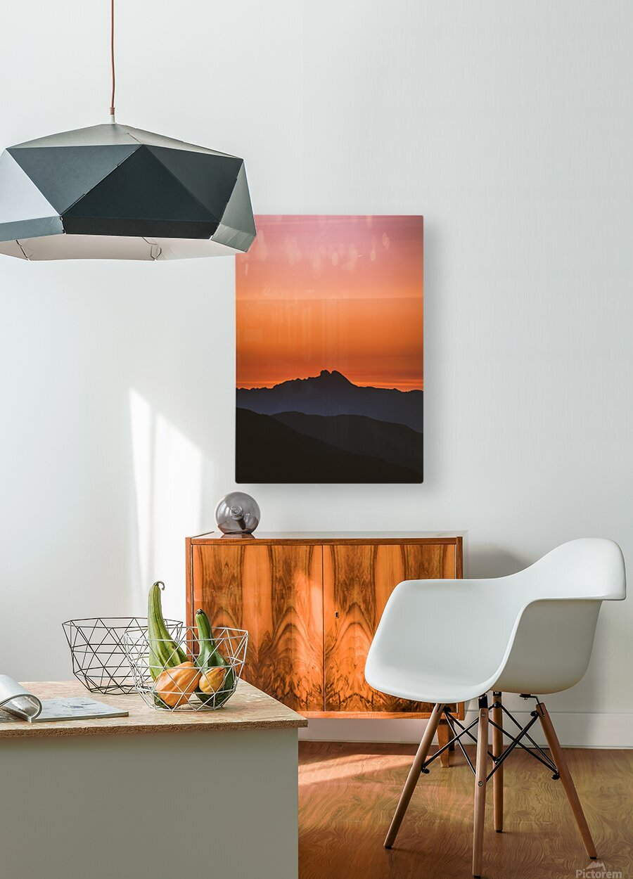 Plane scratch  HD Metal print with Floating Frame on Back