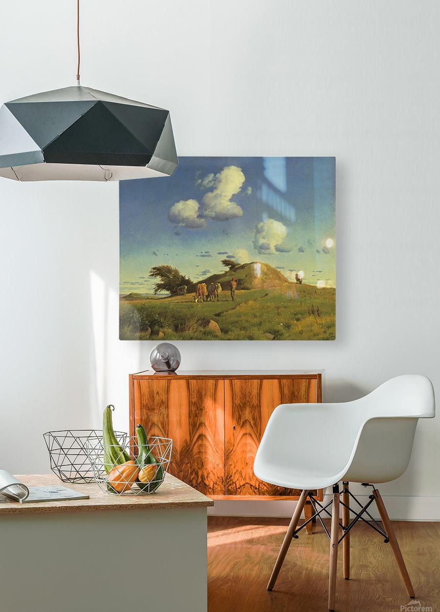 Hankehoj  HD Metal print with Floating Frame on Back