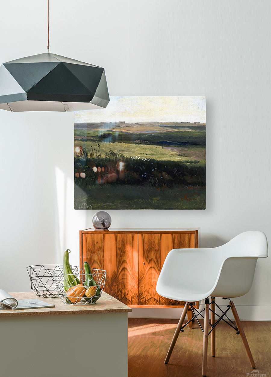 Hills near Vejby, Zealand  HD Metal print with Floating Frame on Back