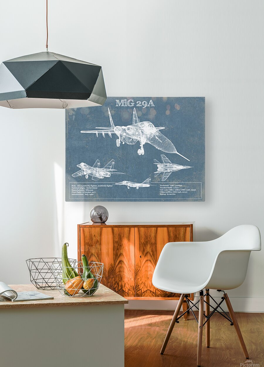mig29a  HD Metal print with Floating Frame on Back