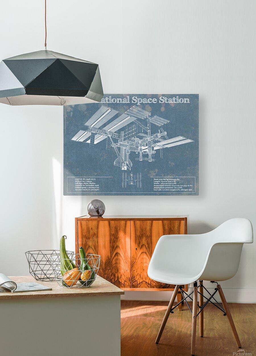 SpaceStation  HD Metal print with Floating Frame on Back