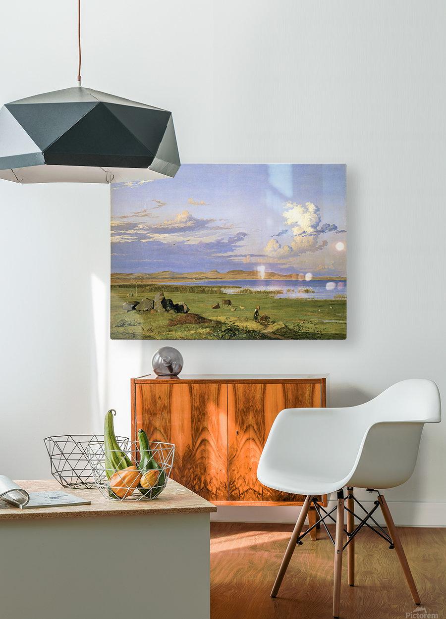 Landskab ved Arreso  HD Metal print with Floating Frame on Back