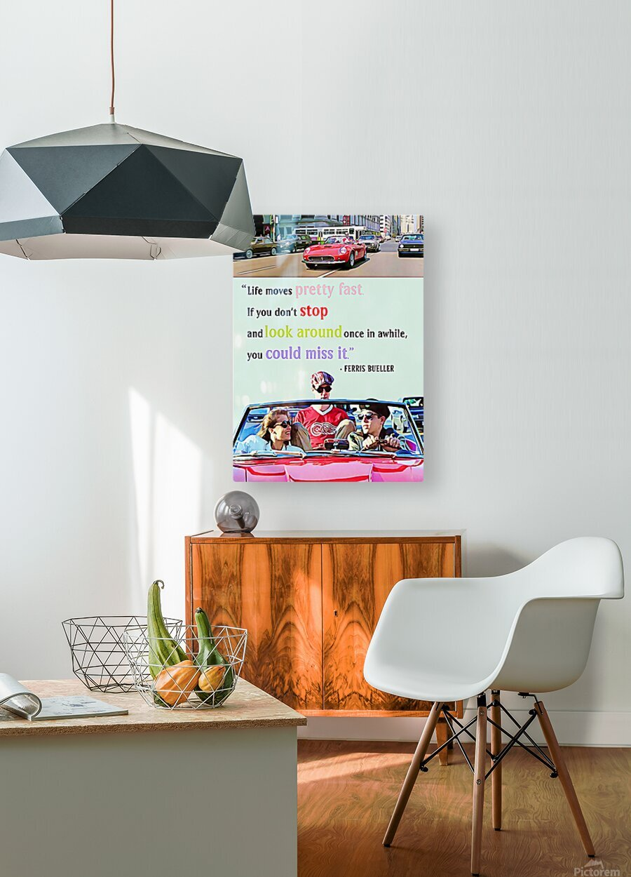 Ferris Bueller Day Off  HD Metal print with Floating Frame on Back
