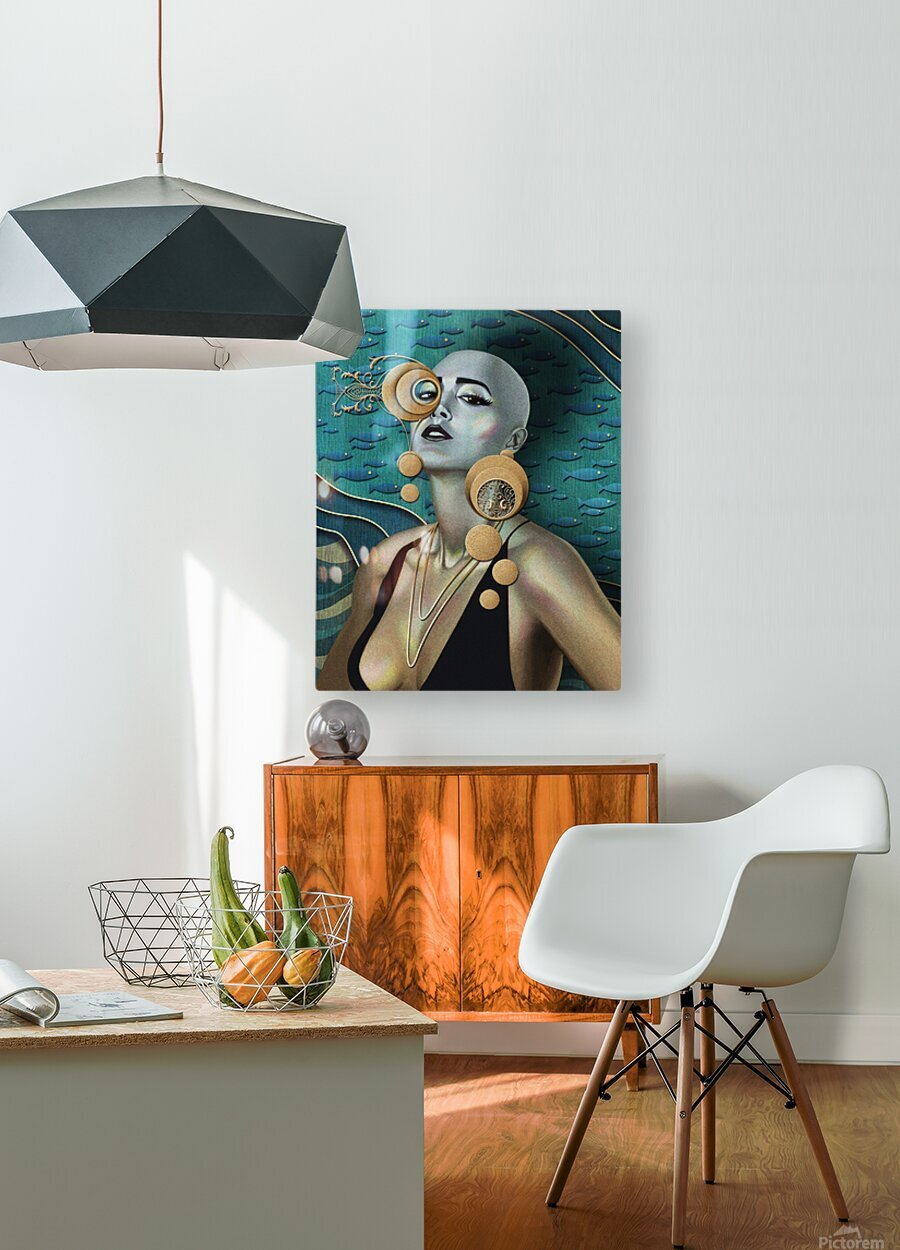 Gold Kind Of Girl  HD Metal print with Floating Frame on Back