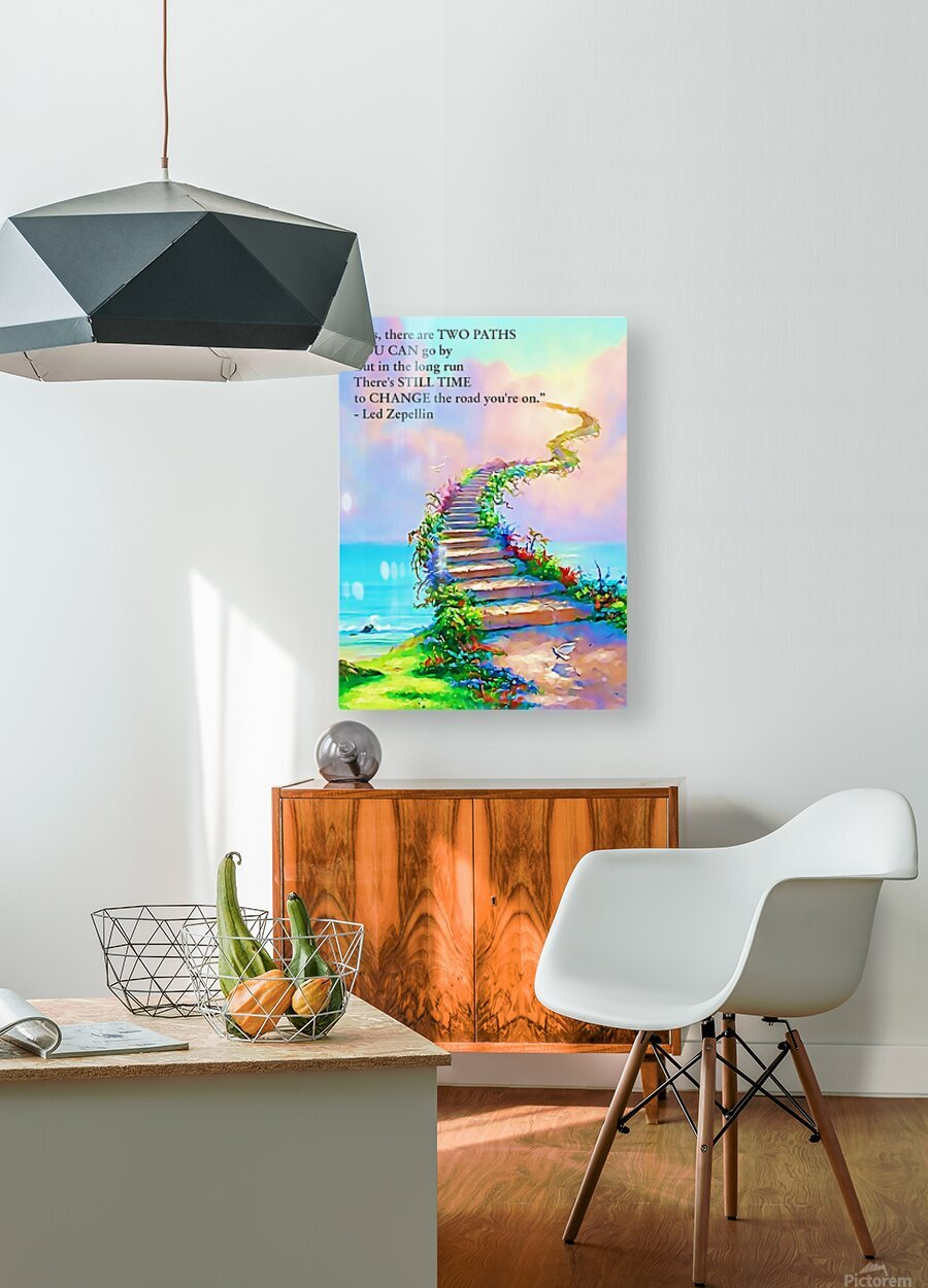Stairway To Heaven  HD Metal print with Floating Frame on Back
