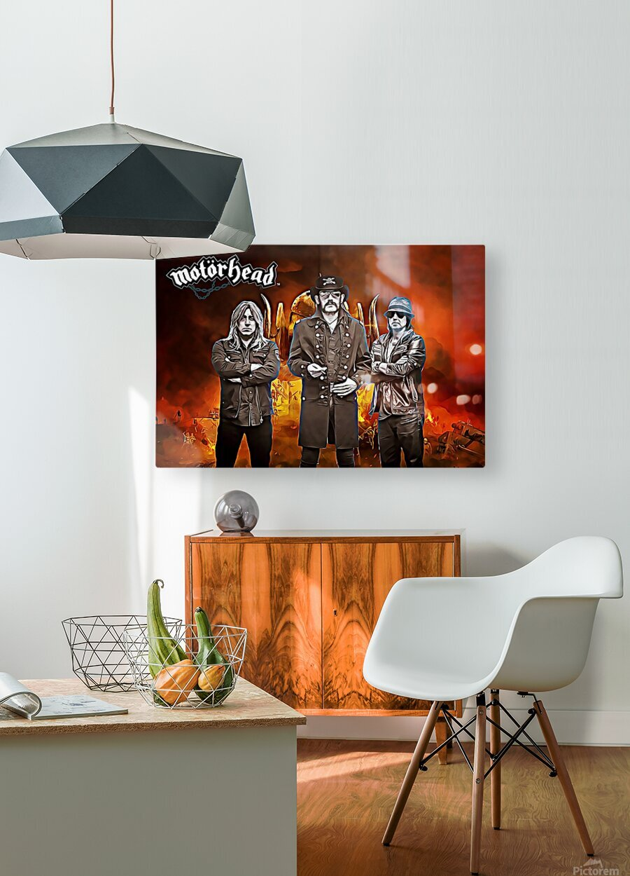 Motorhead  HD Metal print with Floating Frame on Back