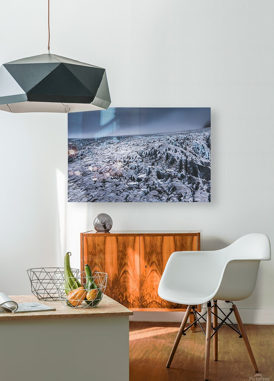Field of ice  HD Metal print with Floating Frame on Back