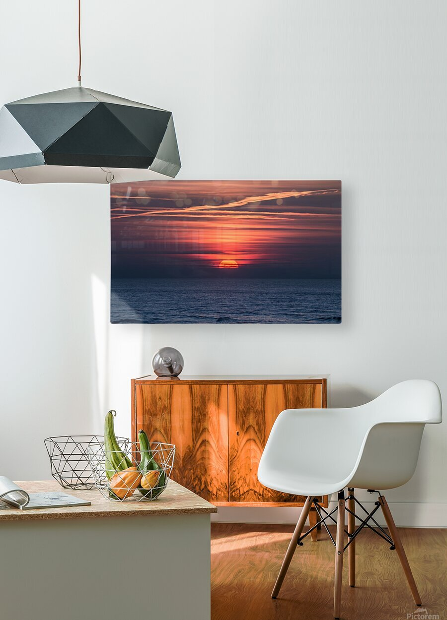 Sea lamp  HD Metal print with Floating Frame on Back