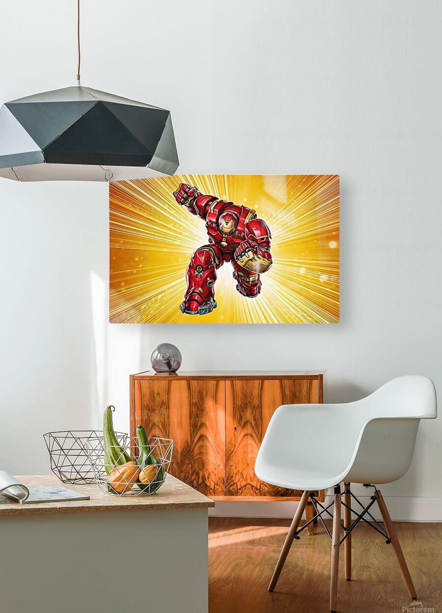 Ironman Hulkbuster  HD Metal print with Floating Frame on Back