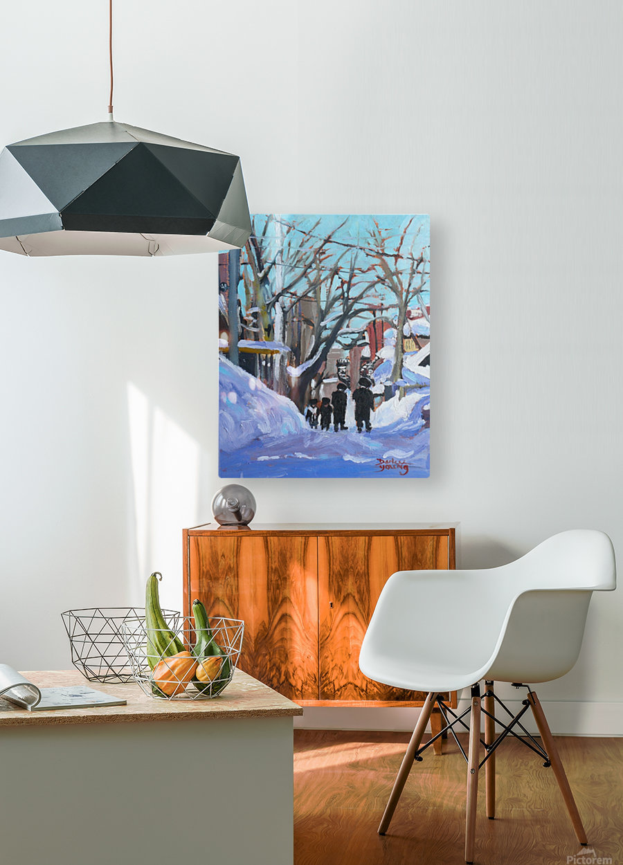 Montreal Winter Outremont  HD Metal print with Floating Frame on Back