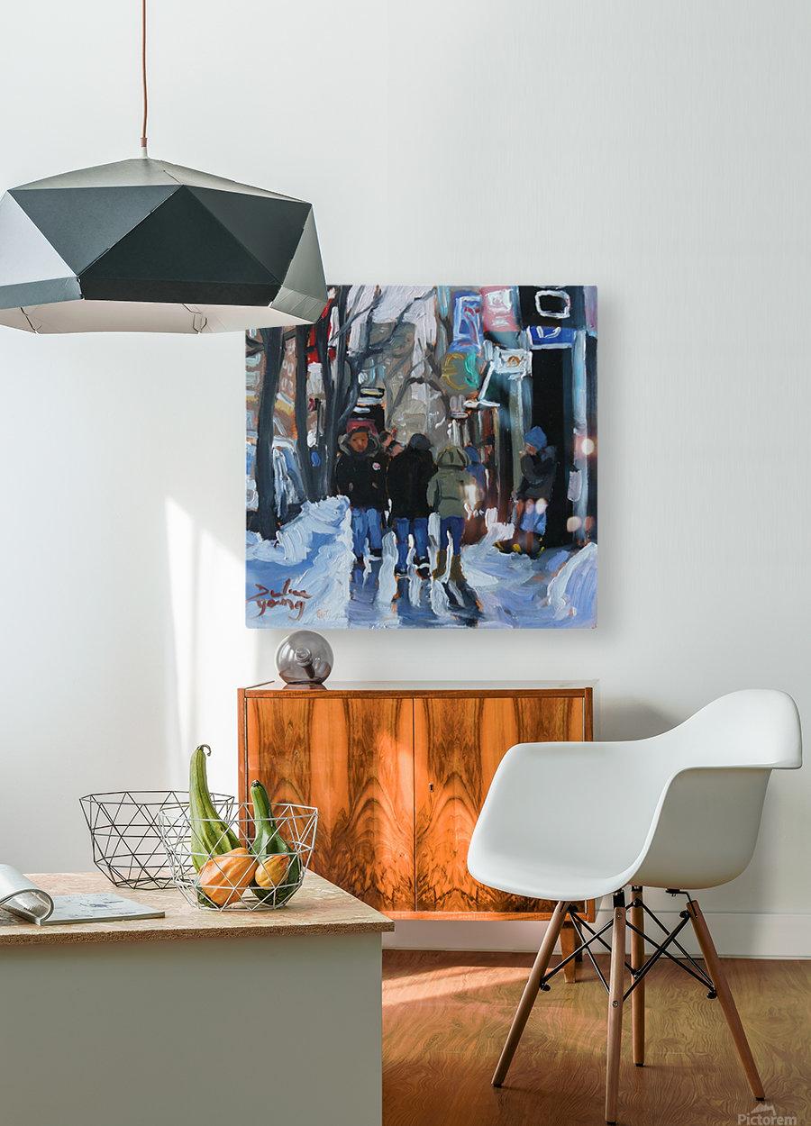 Montrel winter Scene, Ste-Catherine  HD Metal print with Floating Frame on Back