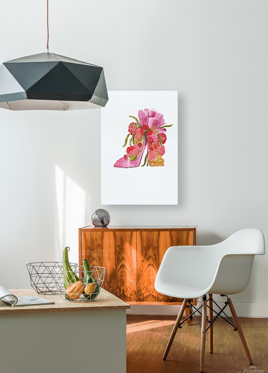 Flower heel  HD Metal print with Floating Frame on Back