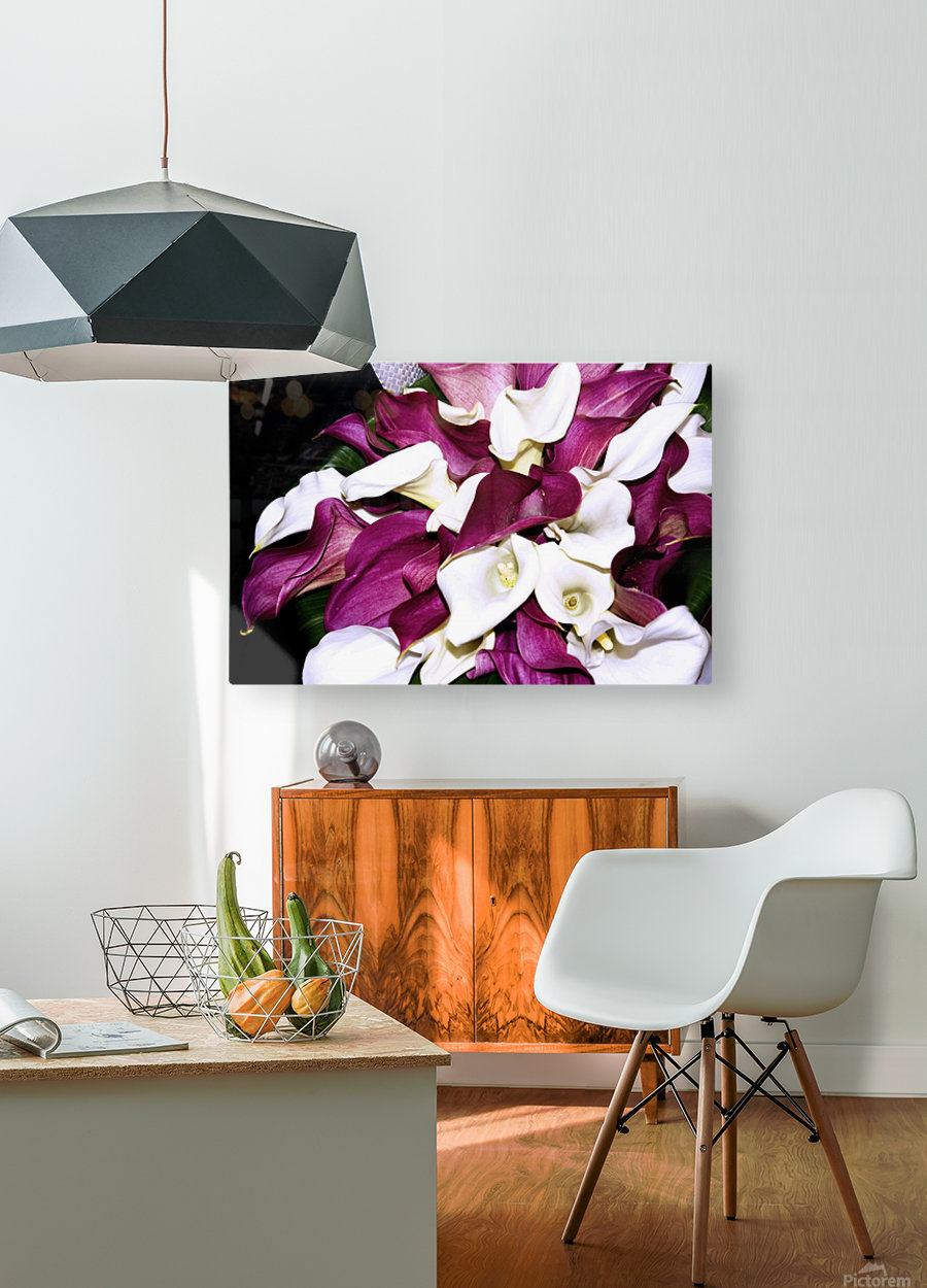 ORCHIDS  HD Metal print with Floating Frame on Back