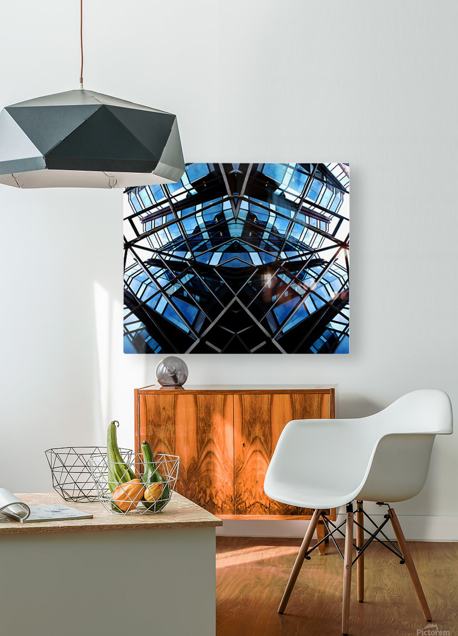 STEALTH  HD Metal print with Floating Frame on Back