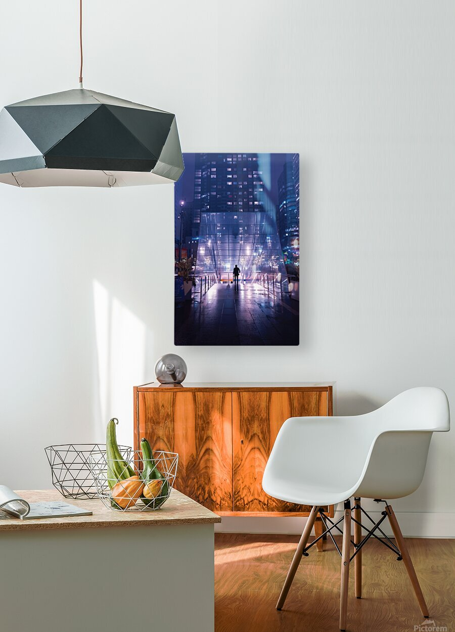 The Future Awaits  HD Metal print with Floating Frame on Back