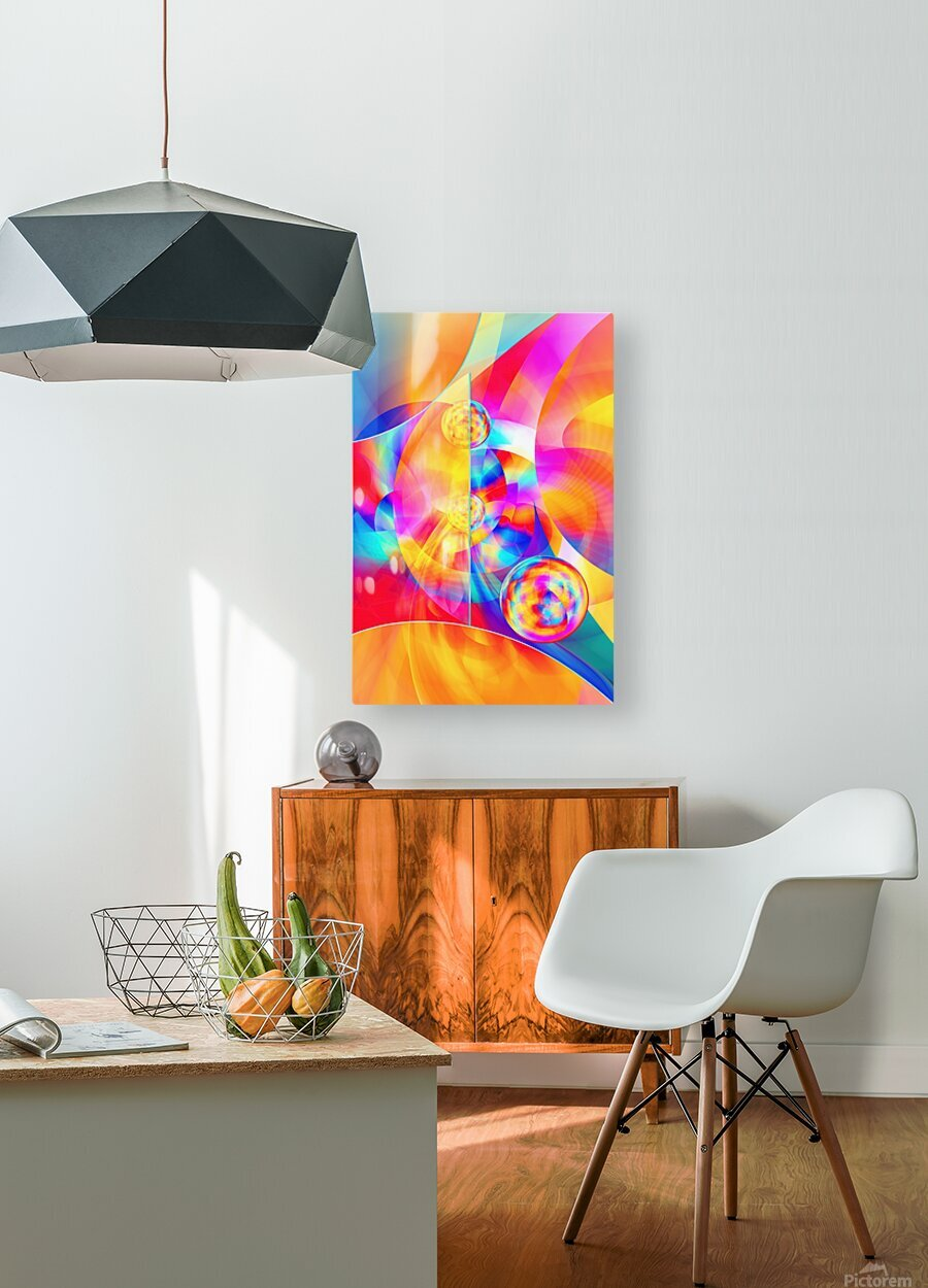4th Dimension -Abstract Art XVII  HD Metal print with Floating Frame on Back