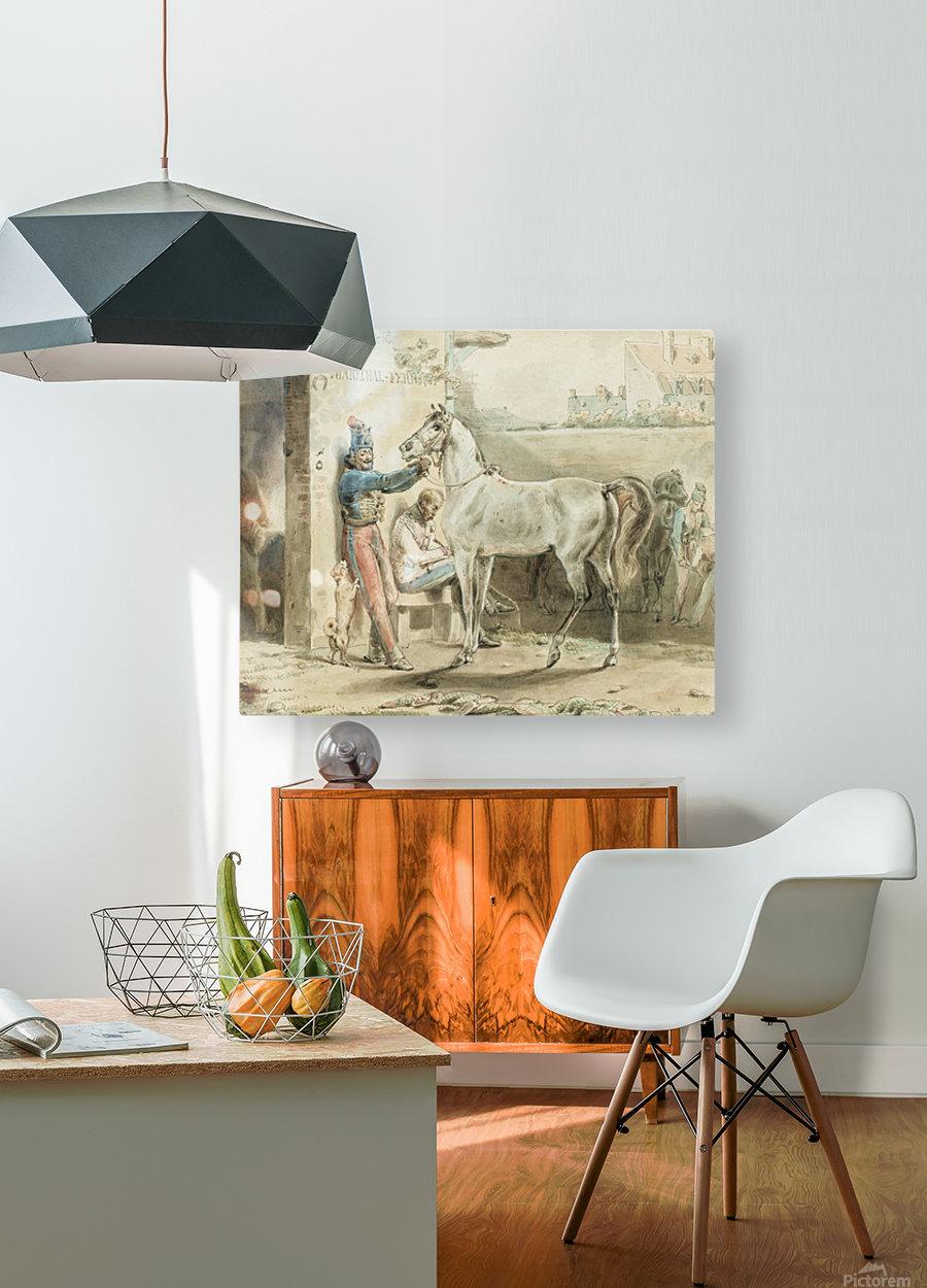 Entourage de Antoine  HD Metal print with Floating Frame on Back