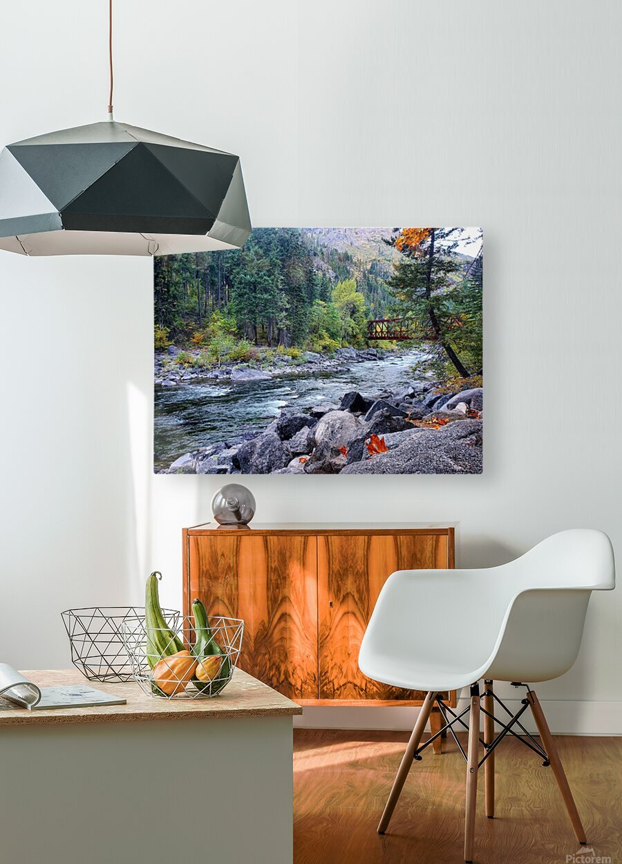 Old Pipeline Bed Trail  HD Metal print with Floating Frame on Back
