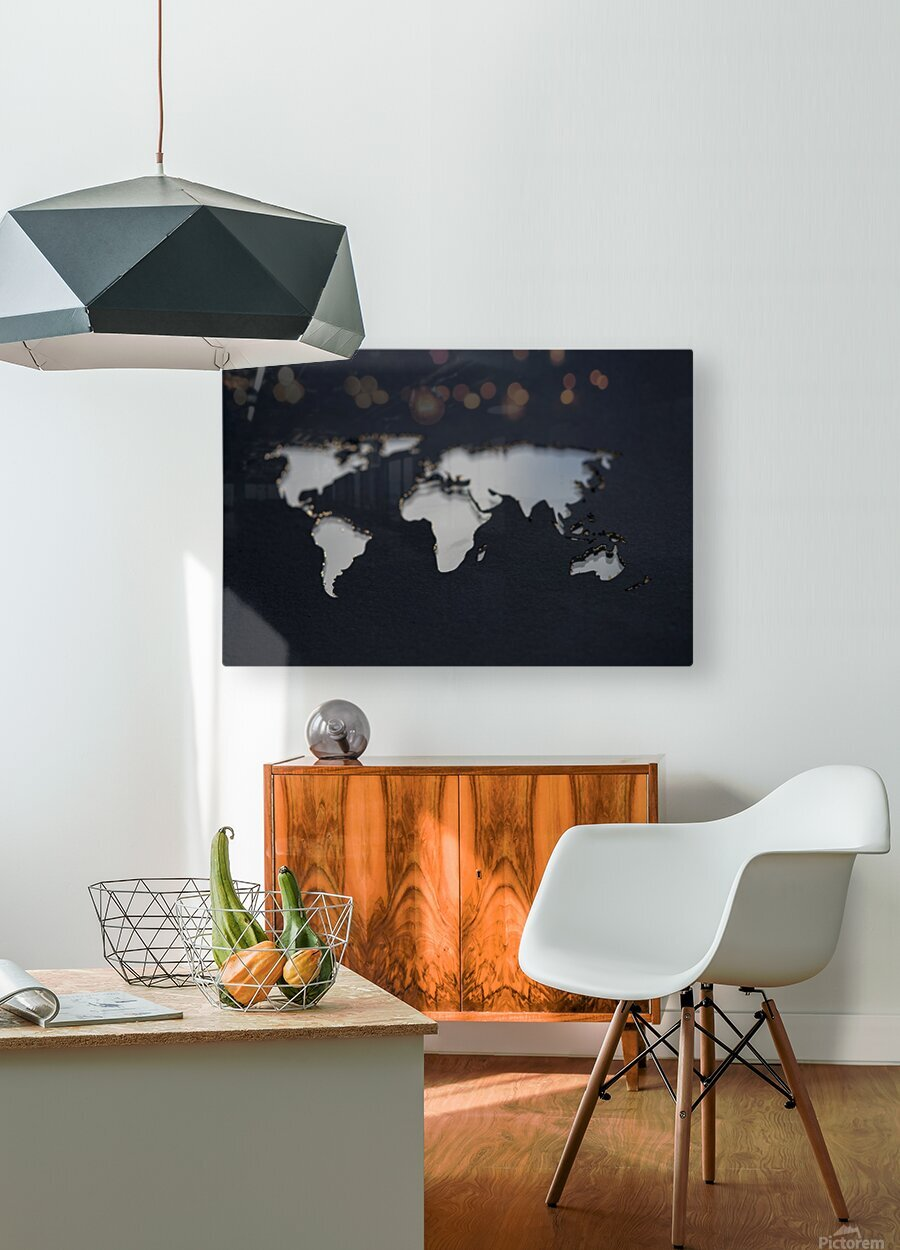 Dark Continent GoGo  HD Metal print with Floating Frame on Back