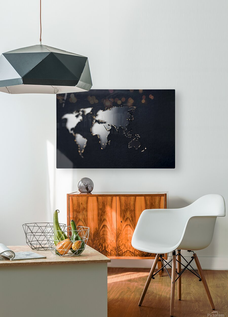 Dark Continent Fadana  HD Metal print with Floating Frame on Back