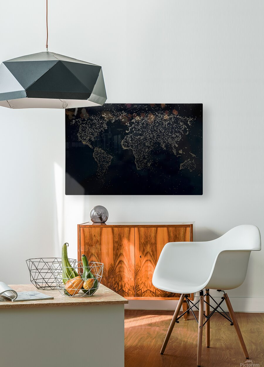 Dark Continent Milina  HD Metal print with Floating Frame on Back