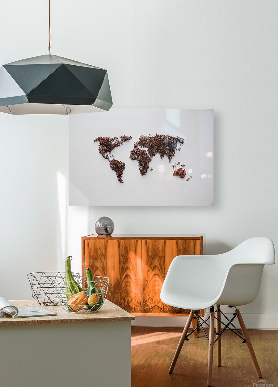 Light Continent Desertia  HD Metal print with Floating Frame on Back