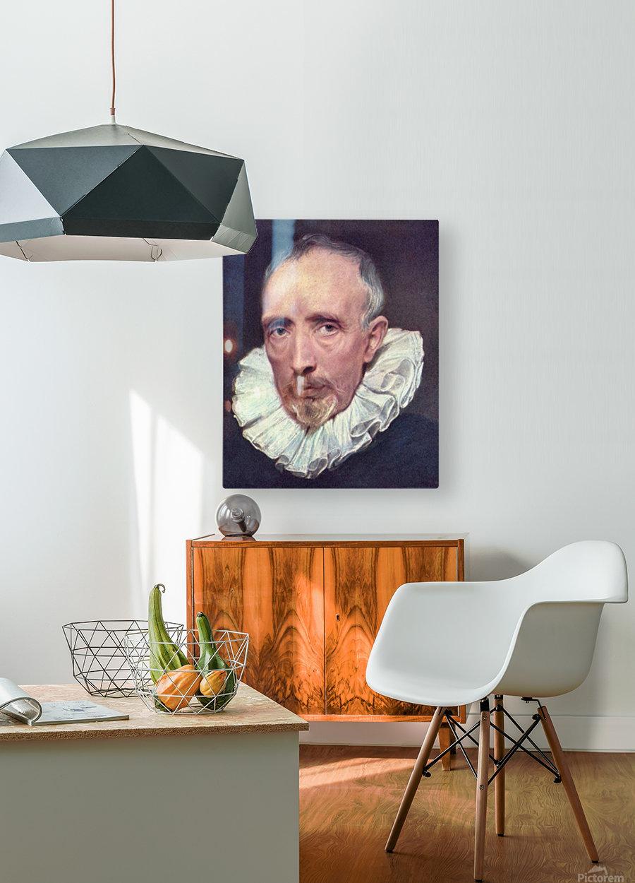Portrait of Cornelius van der Geest by Van Dyck  HD Metal print with Floating Frame on Back