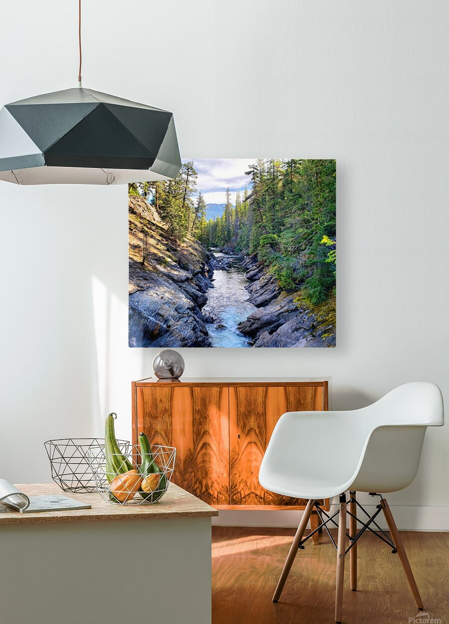 Icicle Gorge Trail  HD Metal print with Floating Frame on Back