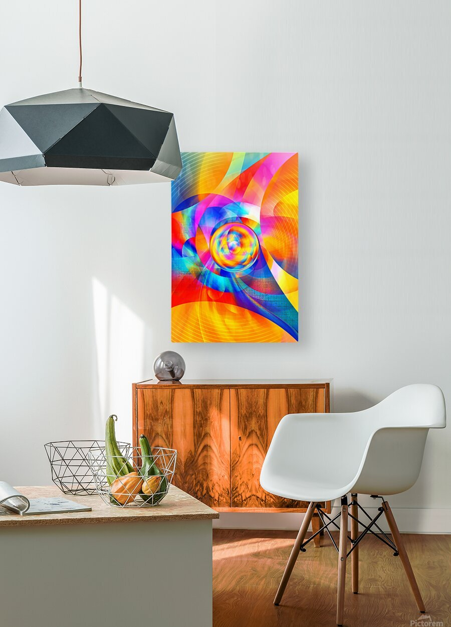 4th Dimension - Abstract Art XVI  HD Metal print with Floating Frame on Back