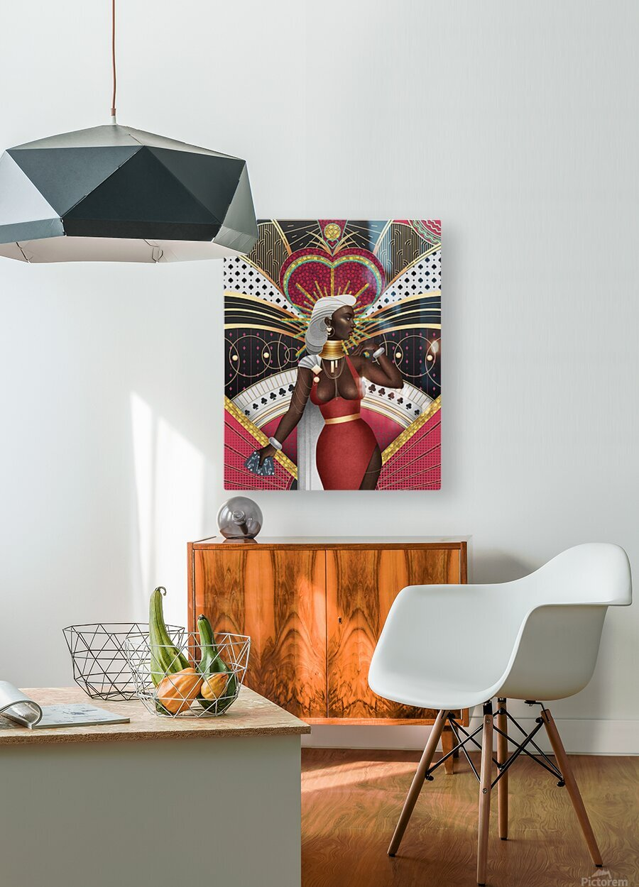 King Of Hearts  HD Metal print with Floating Frame on Back