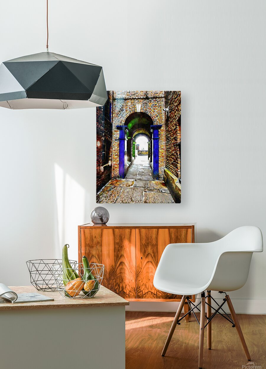 Linking Shad Thames with the River Thames  HD Metal print with Floating Frame on Back