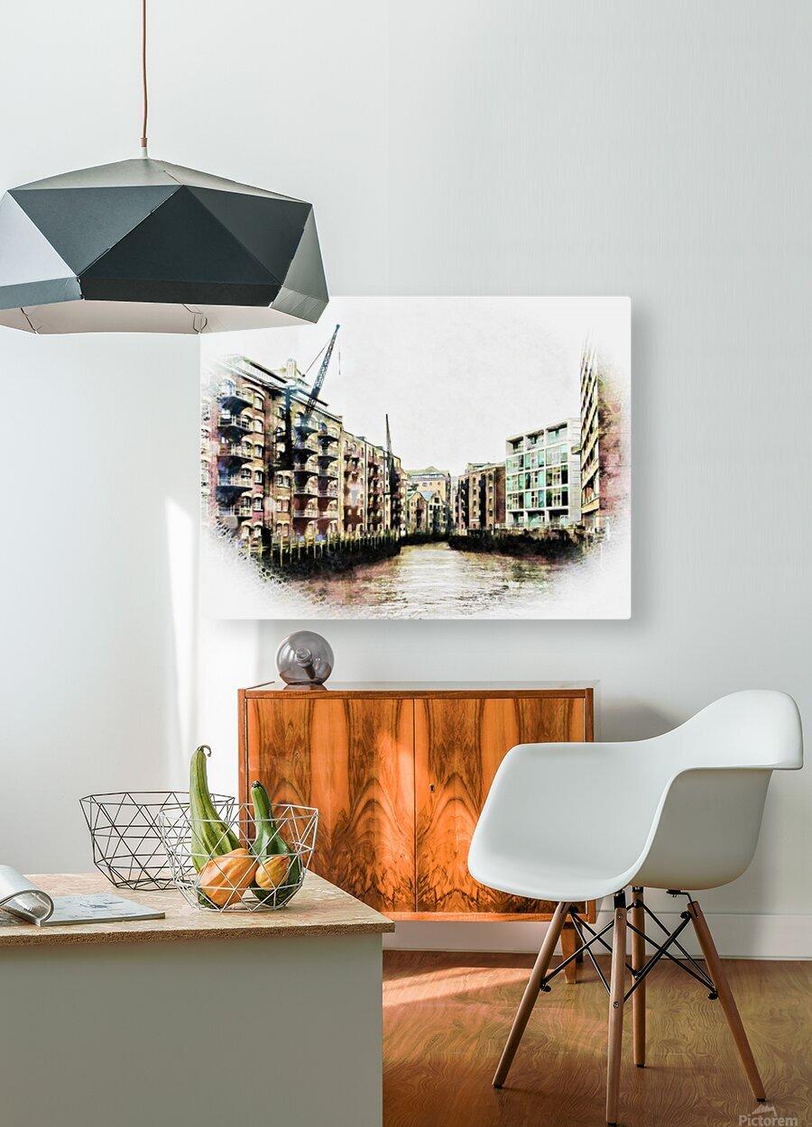 St Saviours Dock Bermondsey  HD Metal print with Floating Frame on Back