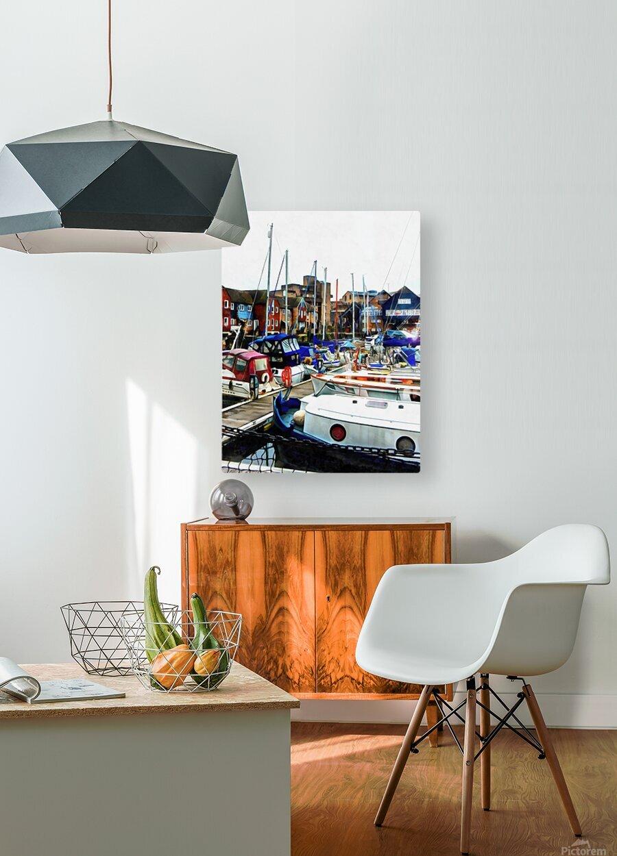 St Katharine Docks Boats 5  HD Metal print with Floating Frame on Back
