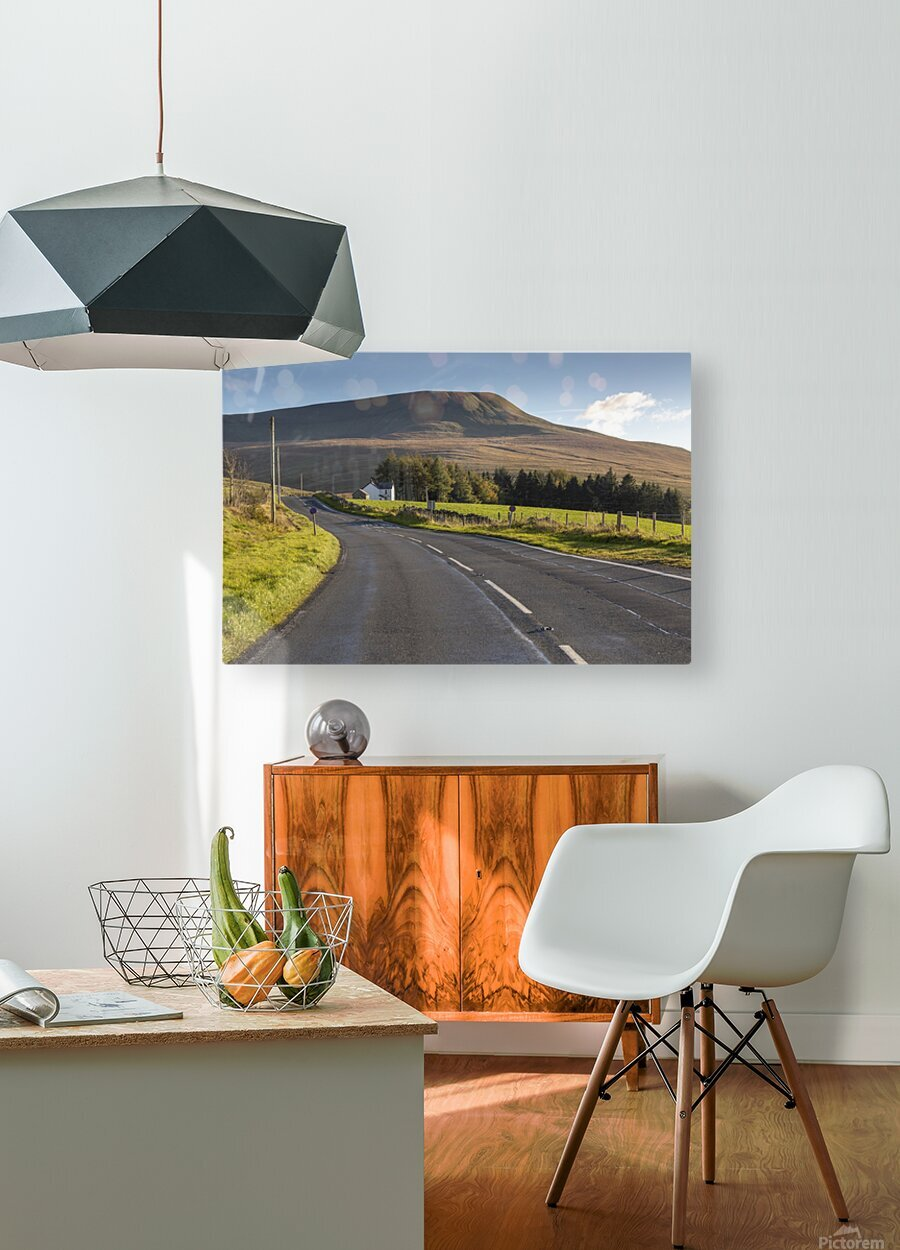 Fan Gyhirych in South Wales UK  HD Metal print with Floating Frame on Back