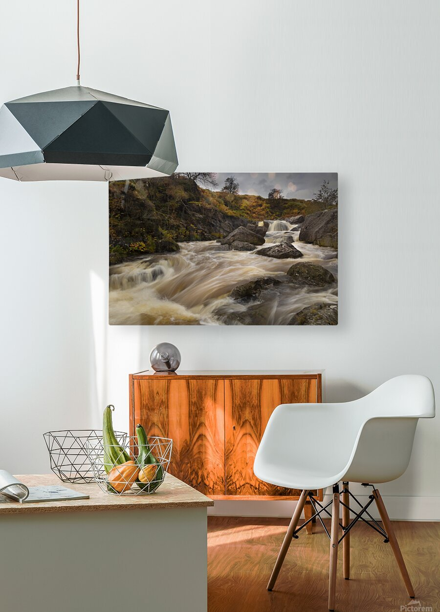 Elan valley watercourse  HD Metal print with Floating Frame on Back