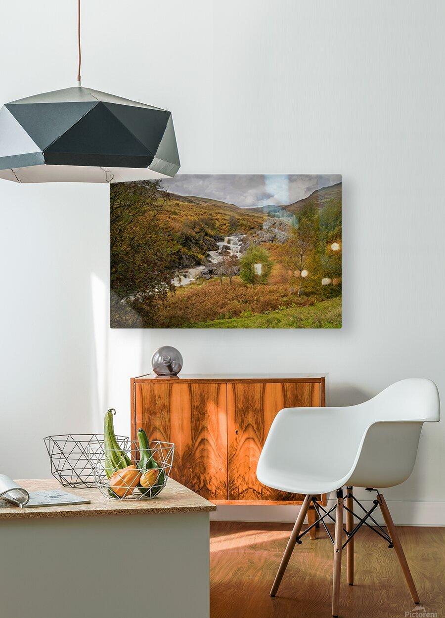 Elan valley landscape  HD Metal print with Floating Frame on Back