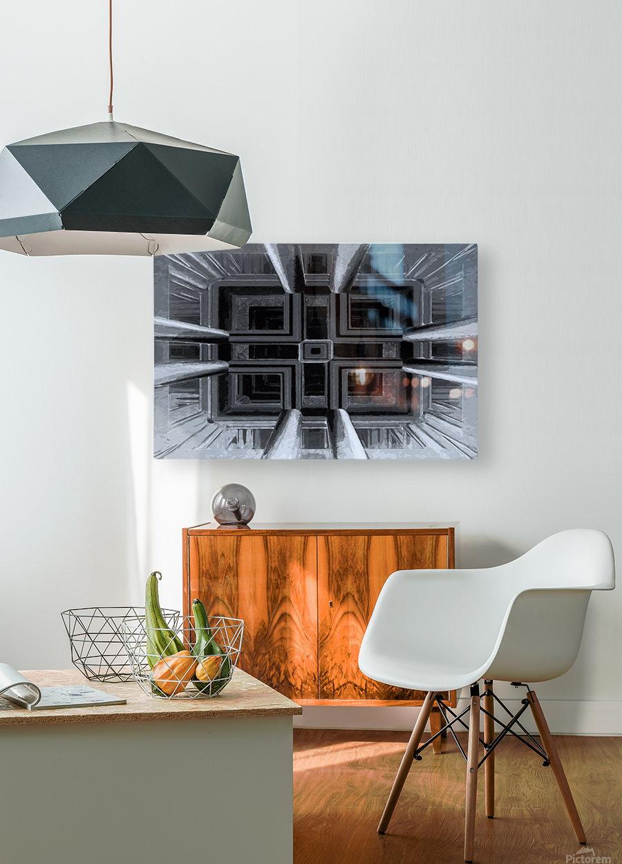 oben oder unten   HD Metal print with Floating Frame on Back
