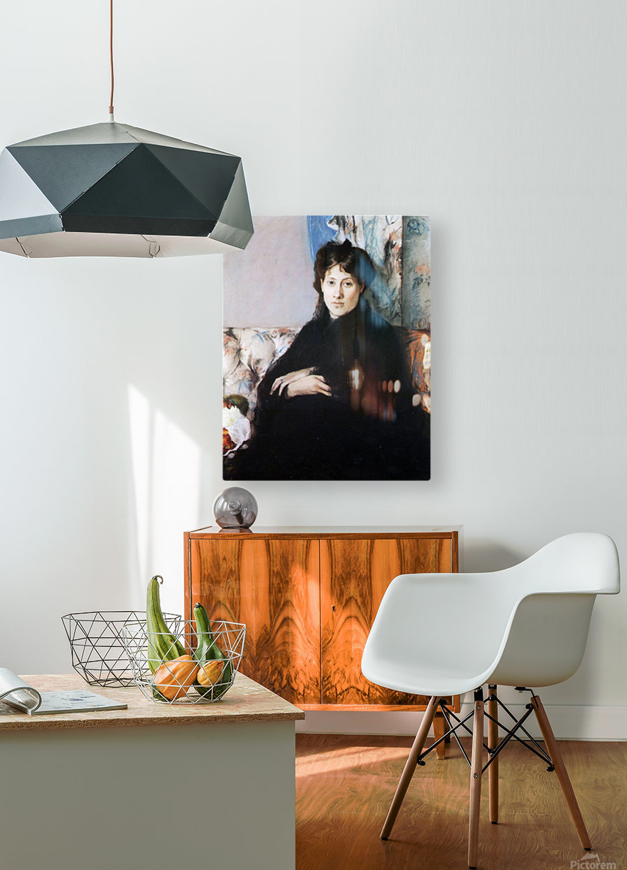 Portrait of Madame Pontillon  HD Metal print with Floating Frame on Back