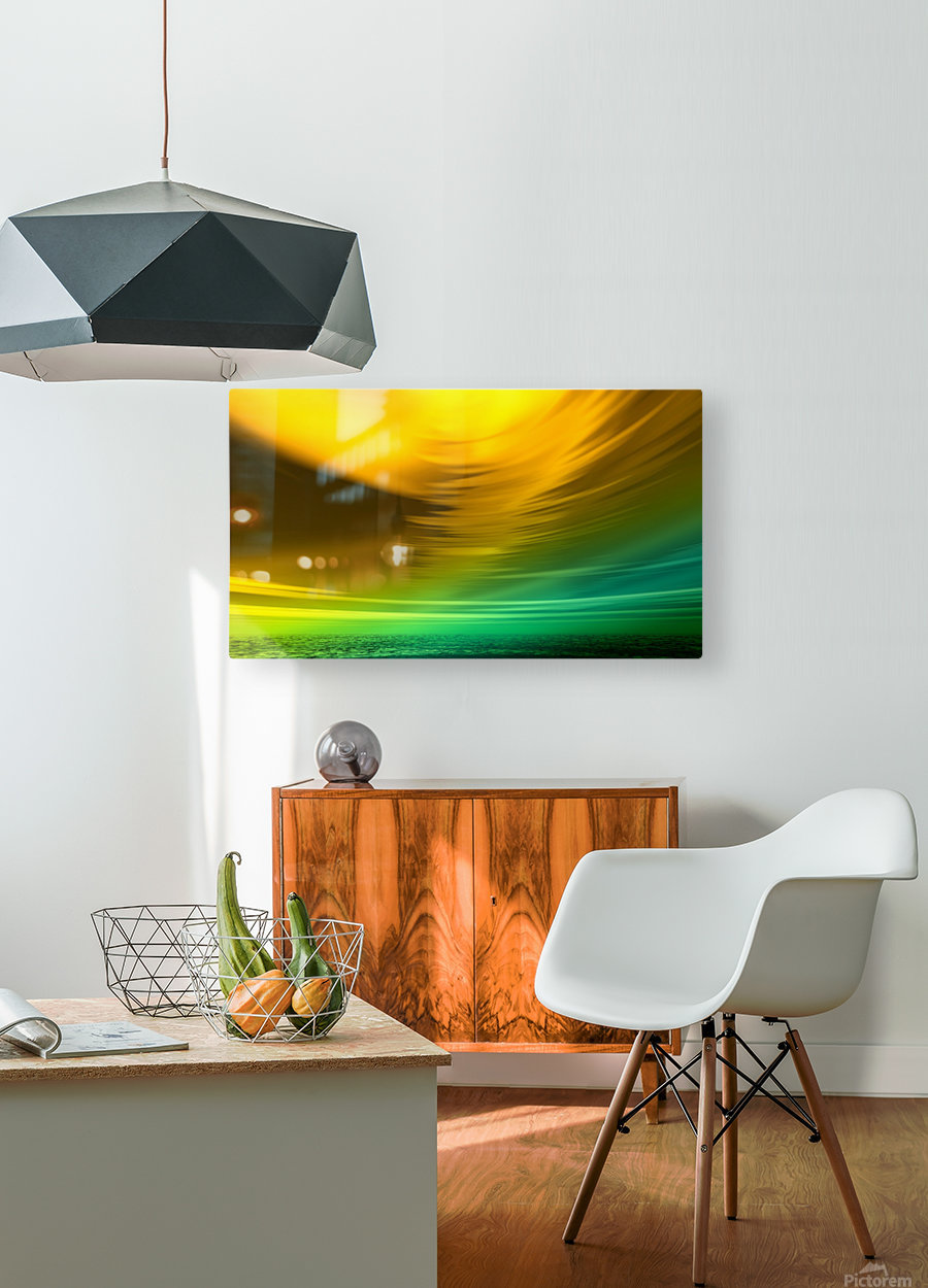 Storm  HD Metal print with Floating Frame on Back