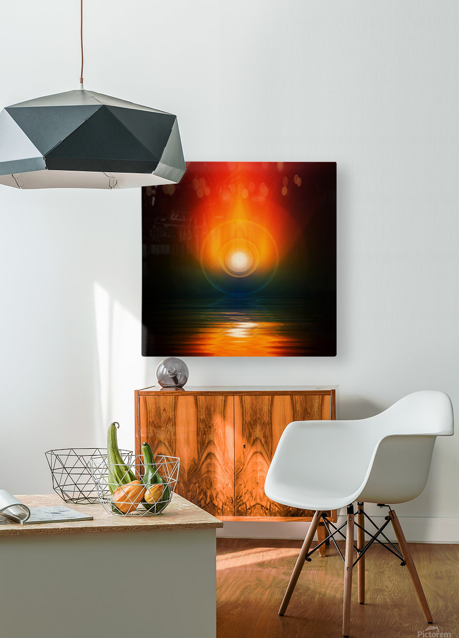 Life energy  HD Metal print with Floating Frame on Back