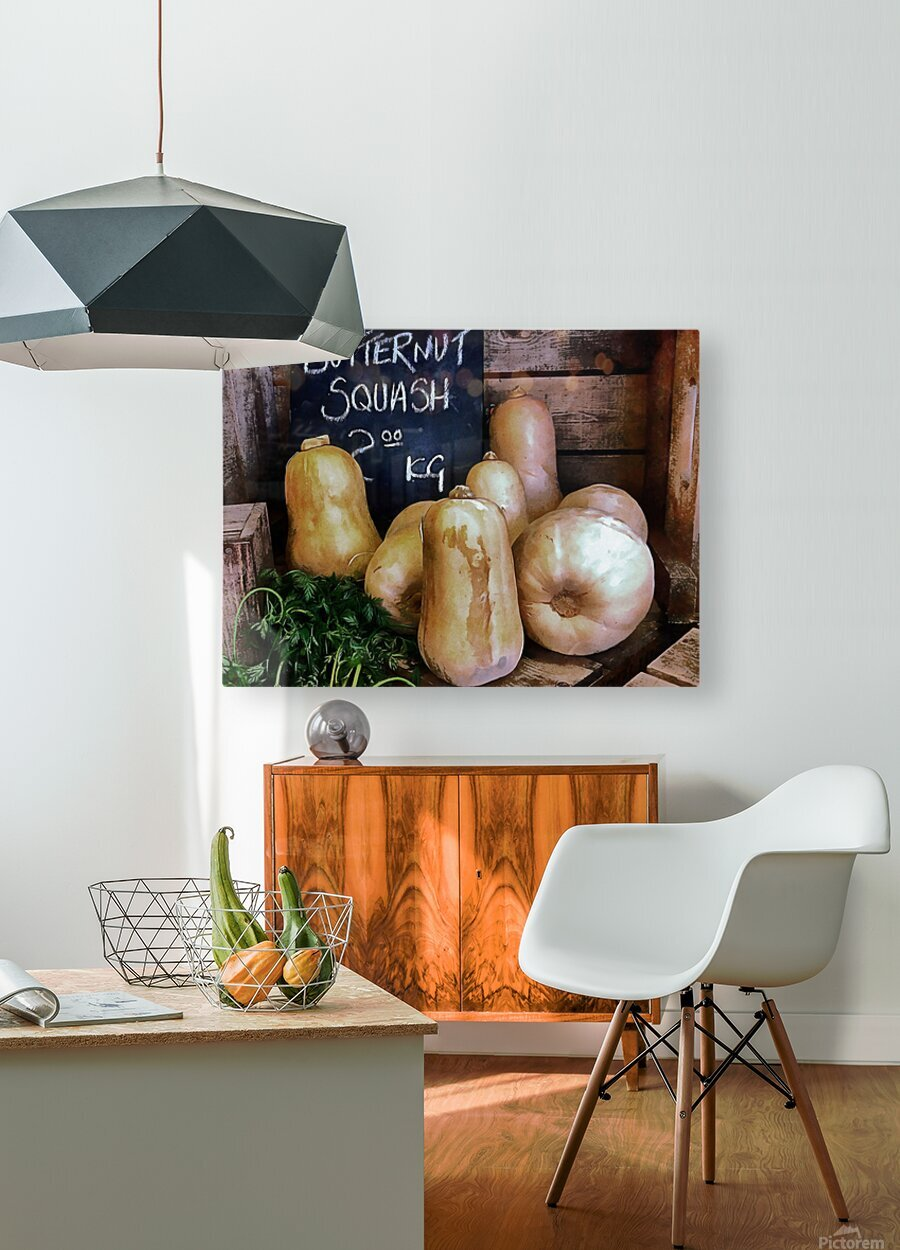 Butternut Squash Sale Display  HD Metal print with Floating Frame on Back