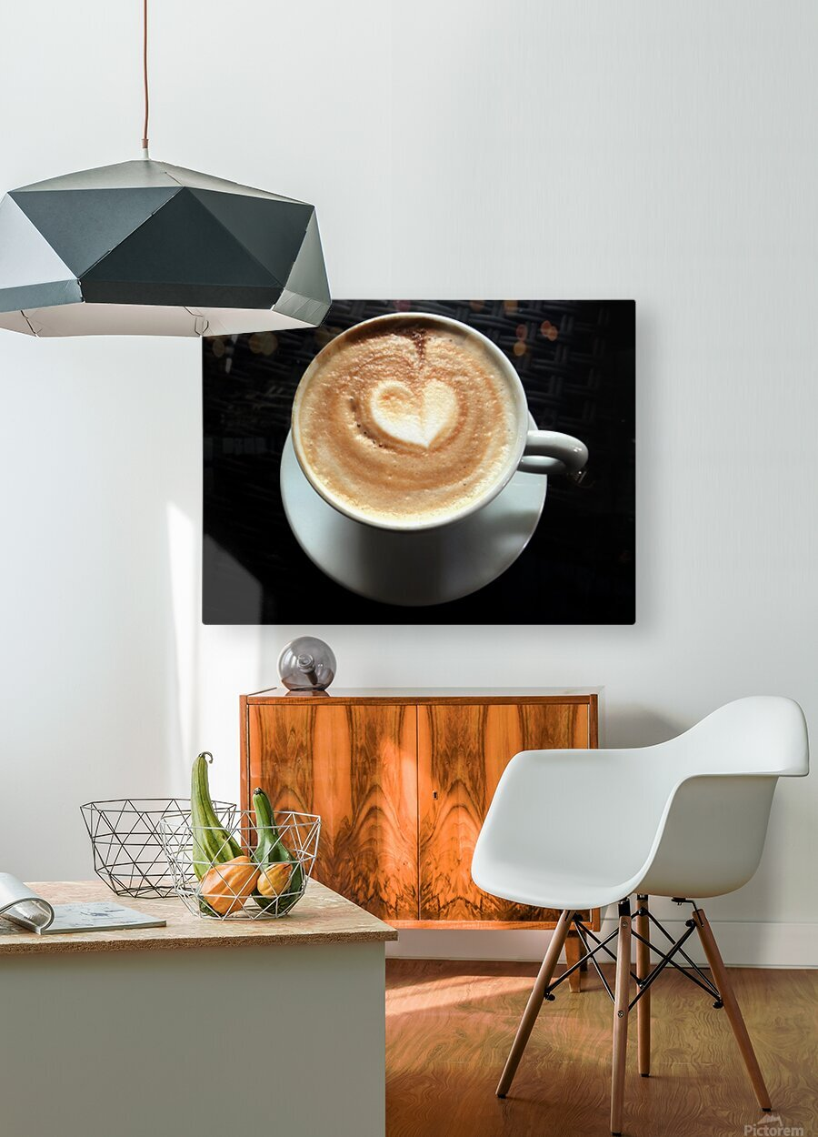 Uno Cappuccino  HD Metal print with Floating Frame on Back
