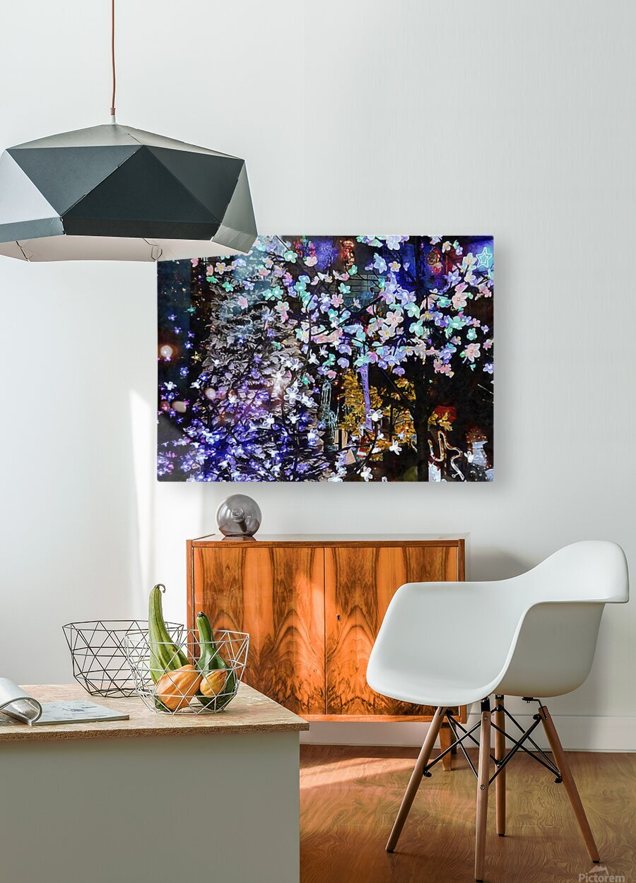 Look Ma Lights  HD Metal print with Floating Frame on Back