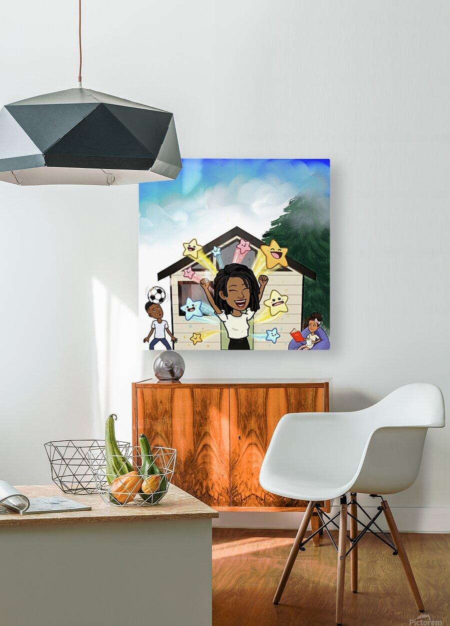 Kids room  HD Metal print with Floating Frame on Back