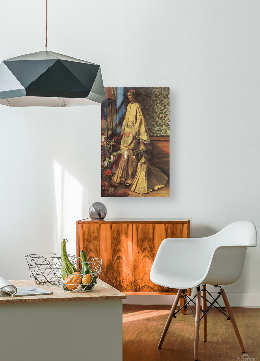 Portrait of Rapha by Renoir  HD Metal print with Floating Frame on Back