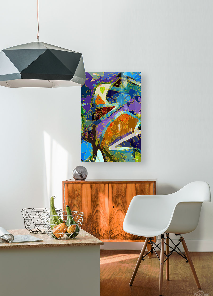 learning to fly  HD Metal print with Floating Frame on Back