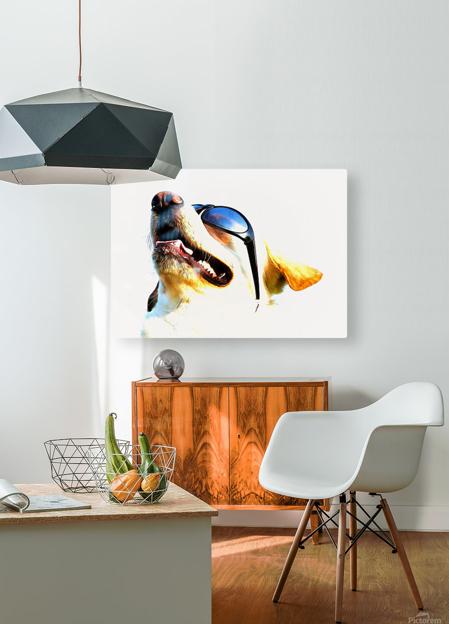 doggy  HD Metal print with Floating Frame on Back
