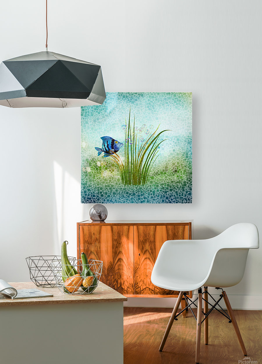 Billy the fish  HD Metal print with Floating Frame on Back