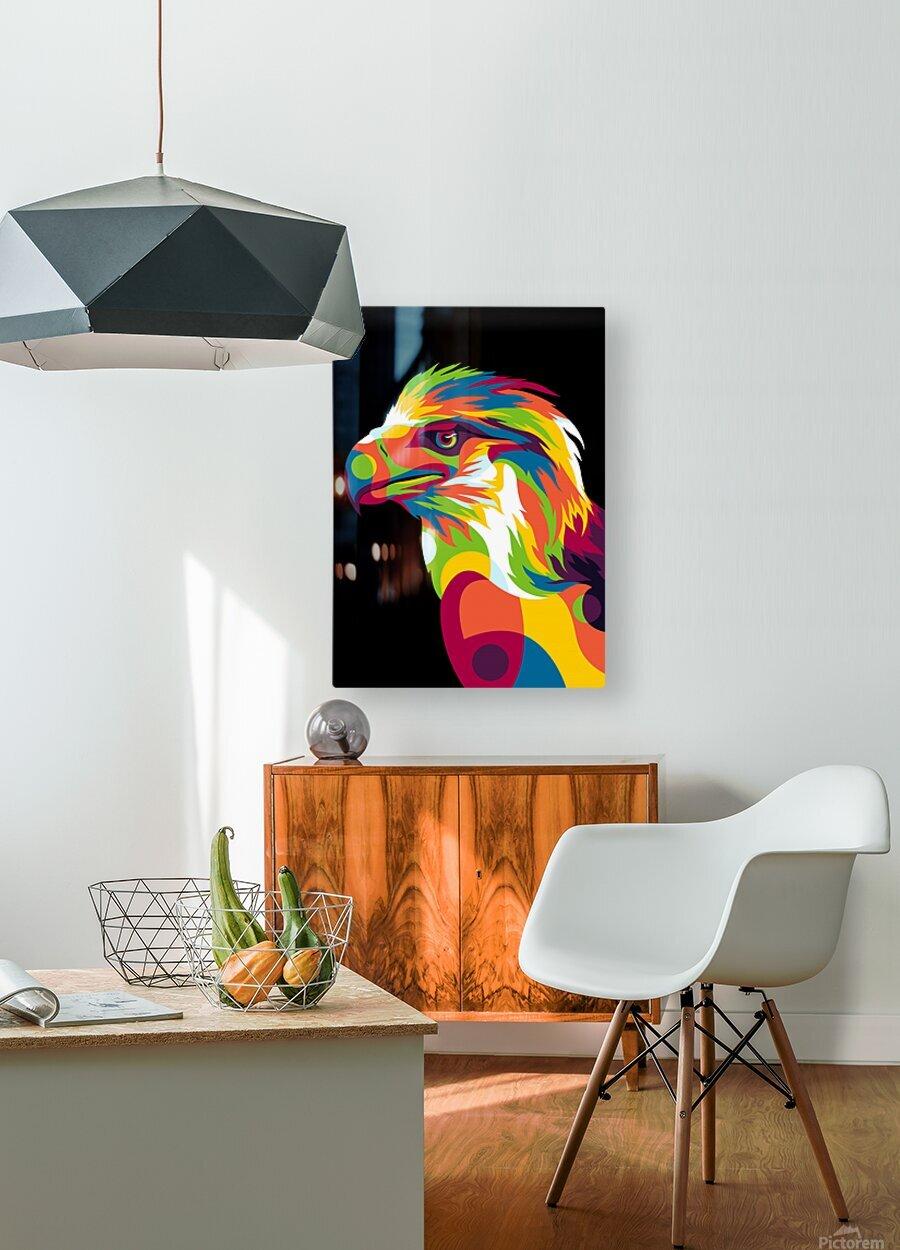 Philippine Eagle Illustration  HD Metal print with Floating Frame on Back